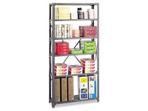 Safco 6268 Commercial Steel Shelving Unit, 6 Shelves, 36w x 12d x 75h, Dark Gray