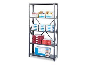 Safco 6267 Commercial Steel Shelving Unit, 5 Shelves, 36w x 24d x 75h, Dark Gray