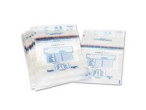PM Company 58013 Clear Disposable Plastic Coin Tote, 50 lb Capacity, 6.5 mil, 13 x 22, 100/Box