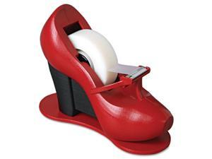 "3M                                       Shoe Tape Dispenser, Red High Heel, 1"" Core"