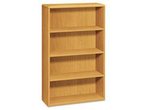 HON 10754C 10700 Series Bookcase, 4 Shelves, 36w x 13-1/8d x 57-1/8h, Harvest