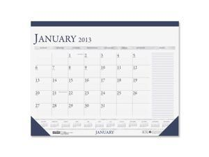 House of Doolittle 1646 Two-Color Monthly Desk Pad Calendar w/Large Notes Section, 18-1/2 x 13