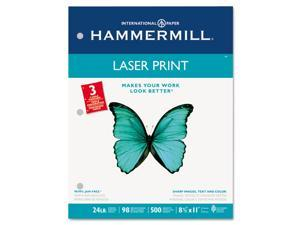 Hammermill 10768-1 Laser Print Office Paper, 3-Hole Punch, 98 Brightness, 24lb, Ltr, White, 500/Rm