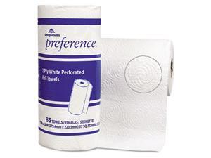Georgia Pacific 27315 Perforated Paper Towel Roll, 11 x 8 7/8, White, 85/Roll, 15/Carton
