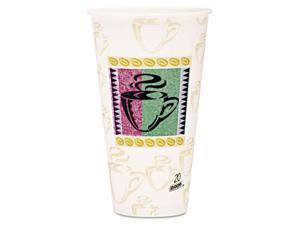 Dixie Hot Cups, Paper, 20 oz., Coffee Dreams Design, 25/Pack