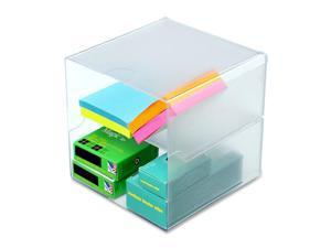 Deflect-o 350701 Desk Cube, Divided, Clear, 6 x 6 x 6