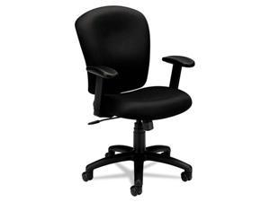 basyx VL220VA10 VL220 Mid-Back Task Chair, Black