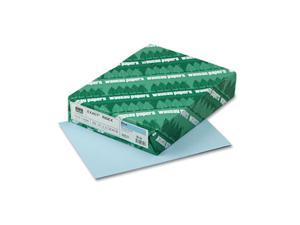 Wausau Paper                             Exact Index Card Stock, 110 lbs., 8-1/2 x 11, Blue, 250 Sheets/Pack