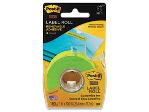 Super Sticky Removable Label Roll, 1 x 700, Green