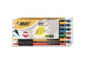 BIC Matic Grip Mechanical Pencil, Assorted Barrel, 0.70 mm, 12/Pack