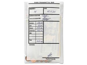 MMF Industries 236006920 Cash Transmittal Bags, Self-Sealing, 6 x 9, Clear, 500 Bags/Box