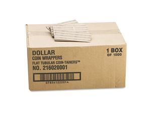 MMF Industries 216020001 Flat Tubular Coin Wrappers, Dollar Coin, $25, Pop-Open Wrappers, 1000/Box