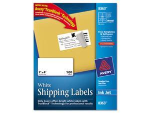 Shipping Labels with TrueBlock Technology, 2 x 4, White, 500/Box