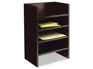 Mayline MLTESP Mira Series Wood Veneer Hutch Letter Tray, 17w x 10d x 22H, Espresso