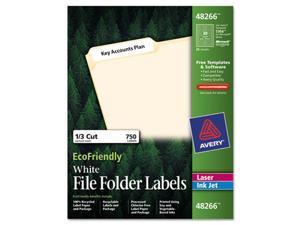 EcoFriendly Labels, 2/3 x 3-7/16, White, 750/Pack