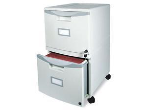 Storex 61301B01C 2-Drawer Mobile Filing Cabinet, 14-3/4w x 18-1/4d x 26h, Light Gray