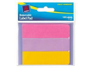 Avery 22010 Removable Label Pads, 1 x 3, Assorted, 120/Pack