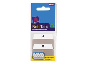 Avery NoteTabs-Notes, Tabs and Flags in One, White, A-Z/Taupe, Two Inch, 24/Pack