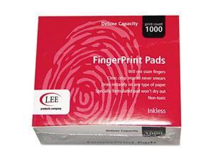 LEE                                      Inkless Fingerprint Pad, 2-1/4 x 1-3/4, Black, Dozen