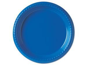 "SOLO Cup Company PS95B-0099PK Plastic Plates, 9"", Blue, 25/Pack"