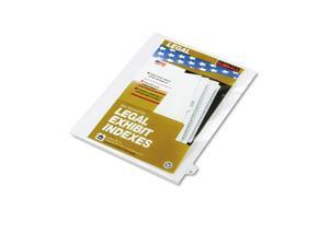 "Kleer-Fax                                80000 Series Legal Index Dividers, Side Tab, Printed ""49"", 25/Pack"