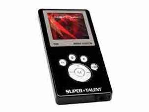 SUPER TALENT MEGA Plus Black 1GB MP3 Player