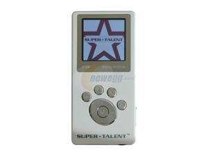 "SUPER TALENT MEGA Plus 1.5"" White 2GB MP3 Player"