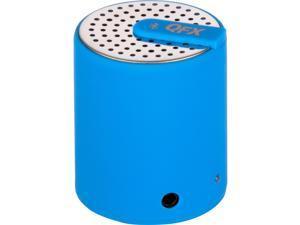 QFX CS27BTBLUE Portable bluetooth speaker with aux-in