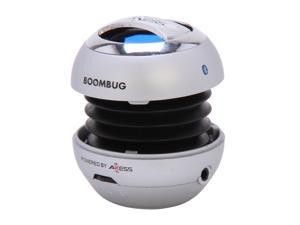 Boombug Bluetooth Portable Mini Premium Speaker - SPLBT12-2, Silver