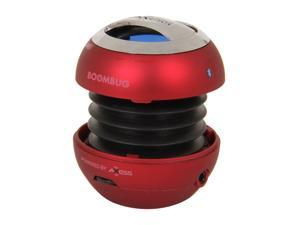 Boombug Bluetooth Portable Mini Premium Speaker - SPLBT12-3, Metallic Red