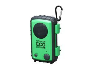 Grace Digital Eco Extreme Waterproof Case w/ Built-In Speaker for iPod /iPhone and MP3 Players (Green)
