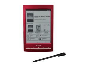 "Sony PRS-T1 6"" Ultra-light Reader with Wi-Fi and Enhanced Touch Screen -Red"