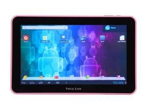 "Visual Land 10.0"" ME-110-16GB-PNK Allwinner Cortex A8 1.20 GHz Android 4.0 (Ice Cream Sandwich) Tablet, Pink"