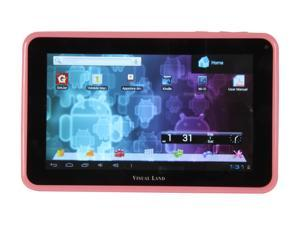 "Visual Land ME-107-L-8GB-PNK 8GB 7.0"" Tablet, Pink"