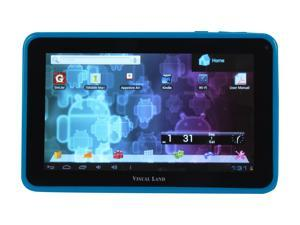 "Visual Land ME-107-L-8GB-BLU 8GB 7.0"" Tablet, Blue"
