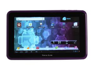 "Visual Land ME-107-L-8GB-PRP 8GB 7.0"" Tablet, Purple"