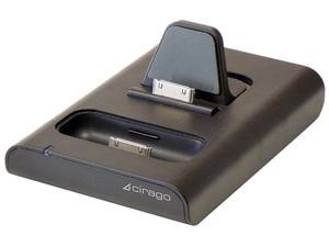 Cirago IPA5100 NuView 200 Dual Dock Charger for iPad/iPod/iPhone Black