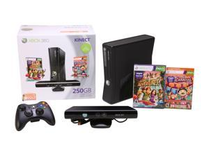 Microsoft XBOX 360 250GB Kinect Holiday Bundle 250 GB Hard Drive Black