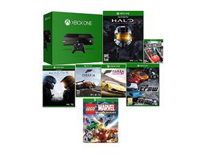 FACTORY RECERTIFIED XBOX ONE 500GB+HALO MASTER COLLECTION+HALO 5+FORZA 5+FORZA HORIZON 2+SCREAM RIDE+THE CREW+LEGO MARVEL HEROES GAMES 90 DAY
