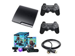 SONY PS3 160GB Bundle w/LittleBigPlanet 2 Move Starter Bundle, 2 Dualshock 3 Controllers, and HDMI cable