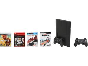 Sony PS3 250GB Bundle w/ 4 games and extra PS3 DUALSHOCK 3 Controller