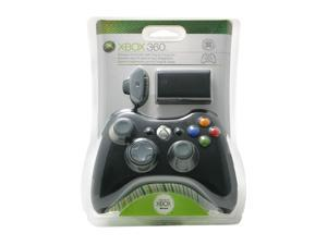 Microsoft Xbox 360 Wireless Controller Black and Play & Charge Kit