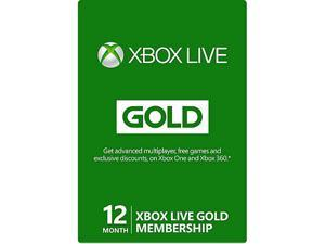 Xbox LIVE 12-Month Gold Membership Physical Card