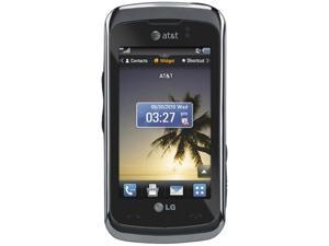 "LG Encore Black Unlocked GSM Smart Phone w/ 3.0"" Screen / Bluetooth v2.1 with A2DP / Voice Memo / Java MIDP 2.0 (GT550)"