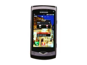 Samsung Wave S8500 Ebony Gray Unlocked GSM Smart Phone with AMOLED Touch Screen