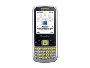 Samsung T349 Silver/Lime Unlocked GSM Bar Phone w/ QWERTY Keyboard / Bluetooth v 2.0 (SGH-T349)