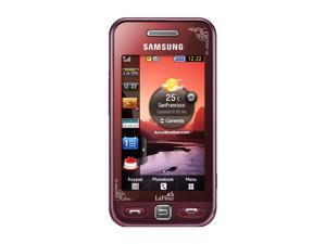 """Samsung Star Red Unlocked GSM Bar Phone w/ 3"""" Touch Screen / Bluetooth v2.1 (S5230)"""