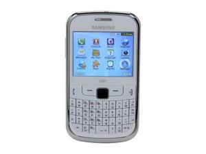 """Samsung Ch@t GT-S3350 60 MB Unlocked Cell Phone 2.4"""" White"""