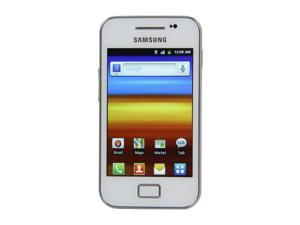 "Samsung Galaxy Ace GT-S5830M Pure White Single-Core 830MHz Unlocked Cell Phone w/ Android OS / 3.5"" Touch Screen / 5.0 MP ..."
