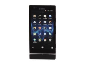 "Sony Xperia P LT22i Black 3G Unlocked Android GSM Smart Phone with Sony WhiteMagic Technology / 4"" Screen"